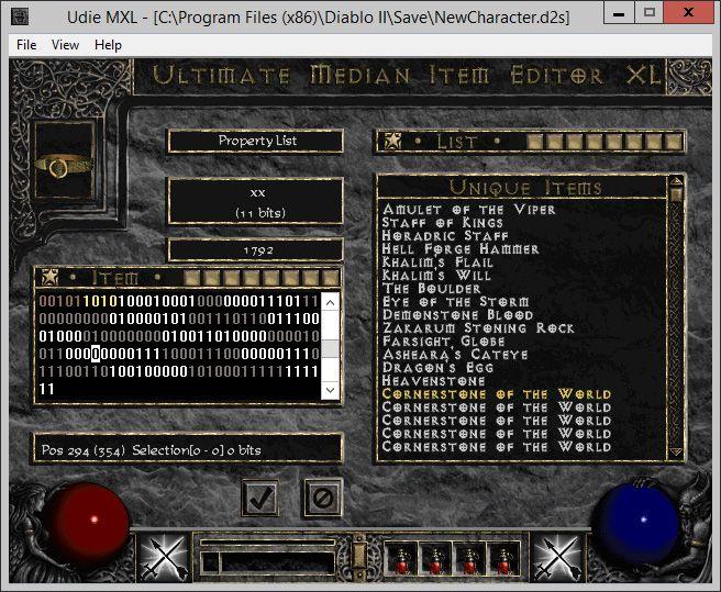 Diablo II UdieMXL Item Editing